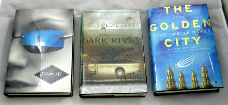 The Fourth Realm Trilogy, Comprised of The Traveler, The Dark River, and The Golden City. John Twelve Hawks.