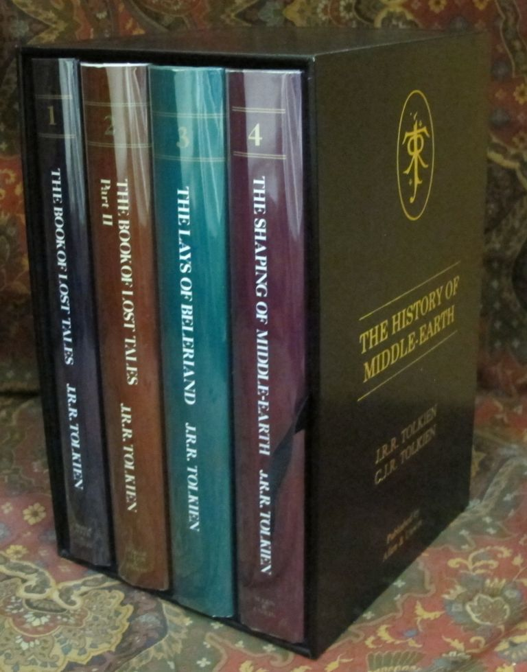 Custom Leather Slipcases for The History of Middle Earth, UK 12 Volume Series. J. R. R. Tolkien