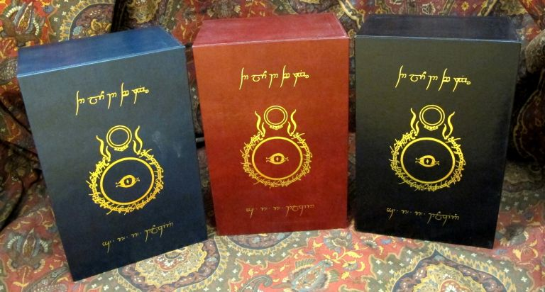 Custom Leather Slipcase for The Lord of the Rings, UK and US 1st or 2nd Editons, J. R. R. Tolkien.