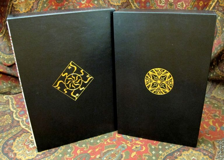Custom Leather Slipcase for The Children of Hurin, The Silmarillion, Unfinished Tales, Beren and Luthien, and The Fall of Gondor, UK and US Editons, Full Leather. J. R. R. Tolkien.
