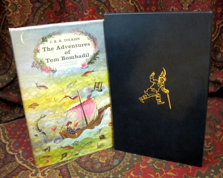 Custom Leather Slipcase for The Adventures of Tom Bombadil or Farmer Giles of Ham, UK and US 1st Editions. J. R. R. Tolkien.