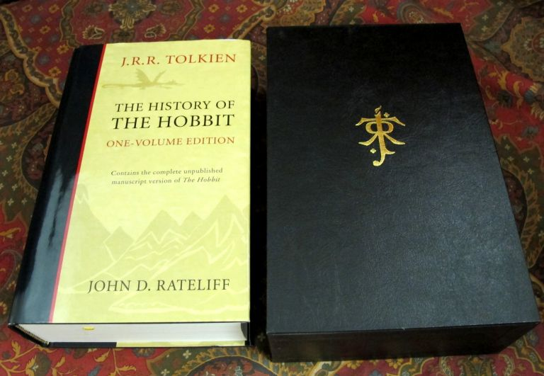 Custom Leather Slipcase for the 1 Volume History of the Hobbit. J. R. R. Tolkien.