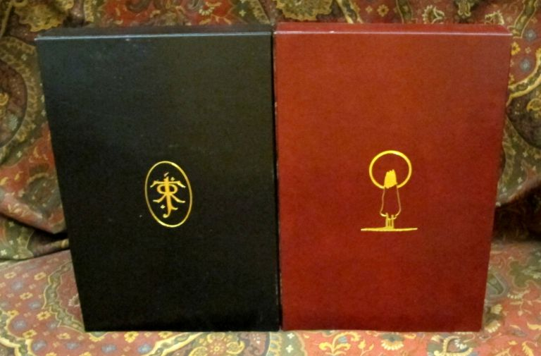 Custom Leather Slipcase for The Story of Kullervo, 1st Editons, Full Leather and Felt Lined. J....