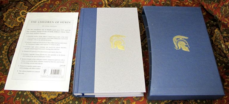 The Children of Hurin - UK Deluxe Edition, 1st Impression Signed By Alan Lee on the Title page. J. R. R. Tolkien.