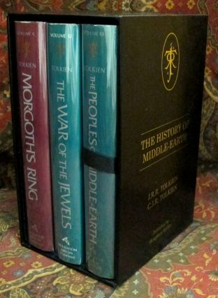 Custom Leather Slipcases for The History of Middle Earth, UK 12 Volume Series.