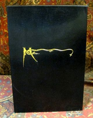 Custom Slipcase for The Allen & Unwin De Luxe 1 Volume Lord of the Rings, India Paper Edition, or The Hobbit De Luxe Edition, Black Leather Covered, Felt Lined