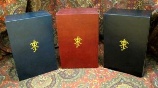 Custom Leather Slipcase for The Lord of the Rings, UK and US 1st or 2nd Editons,