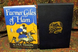 Custom Leather Slipcase for The Adventures of Tom Bombadil or Farmer Giles of Ham, UK and US 1st Editons