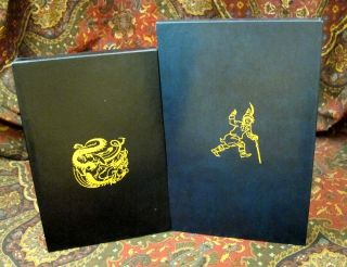 Custom Leather Slipcase for The Adventures of Tom Bombadil or Farmer Giles of Ham, UK and US 1st Editions