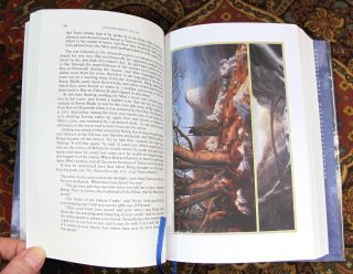 Unfinished Tales of Numenor and Middle-earth, Signed By Alan Lee in Custom Leather Slipcase
