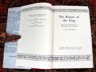 The Lord of the Rings, 1962 Allen & Unwin UK 1st Editions in Publishers Slipcase.